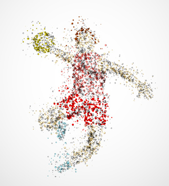 Abstract handball player